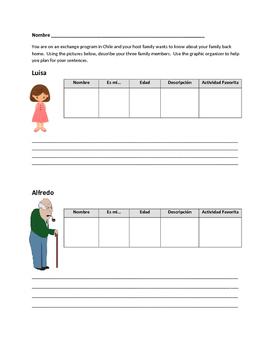 Family Vocabulary Writing Activity