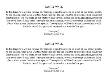 Family Wall Family Letters (EDITABLE)