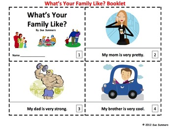 Family - What's Your Family Like 2 Emergent Readers
