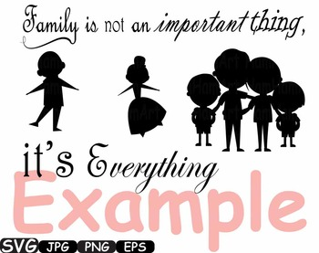 Family Word Art mom dad SVG Family Deep Roots monogram clipart Silhouette  -323S