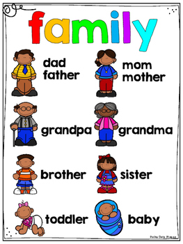 FREE Family Word Bank and Folder Sample