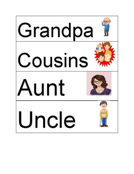 Family Word Cards
