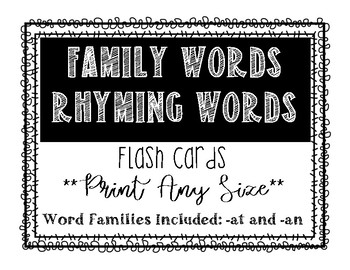 Family Word Flashcards Freebie!