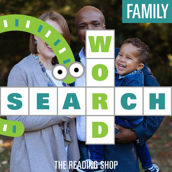 Family Word Search - Primary Grades - Wordsearch Puzzle