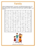 Family Word Search Puzzle (Challenging)