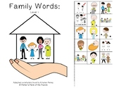 Family Words Adapted Book- 3 Levels (Autism/ Special Educa