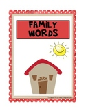Family Words File Folder