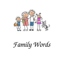Family Words Folder