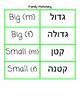 Family Words- Hebrew