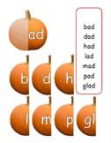 Family Words Practice: Fall Pumpkin Theme