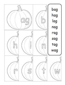 Family Words Practice: Fall Pumpkin Theme