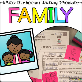 Family - Write the Room Writing Prompts {Print on Cardstock or Post It Notes}