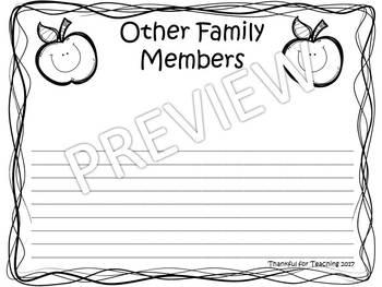 Family Writing Activity