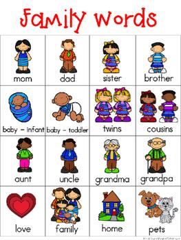 Family Writing Center Tools: Neighborhood Words