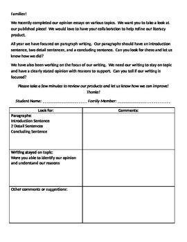 Family Writing Reflection