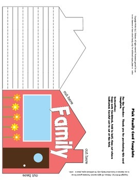 Family Writing Template in Pink
