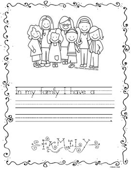 Family Writing Template/Promt
