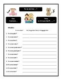 Family, age, name, vocabulary practice in French