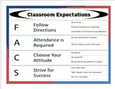 Family and Consumer Science Classroom Expectations