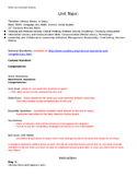 Family and Consumer Sciences Unit Plan Template