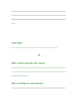 Family and Me Questionnaires for our Family Tree