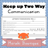 Family and Parent Communication Tool {FREEBIE}