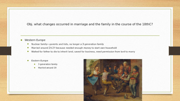 Family and Social Life in Era of Expansion PPT AP Euro