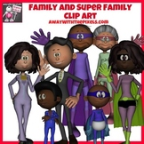 Family and Superhero Family Clip Art Set - Clipart for Teachers