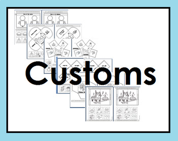 Family and customs interactive journals (Spanish and English)