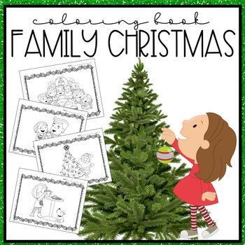 Family at Christmas Coloring Book