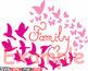 Family birds & Butterflies butterfly love clipart svg hear