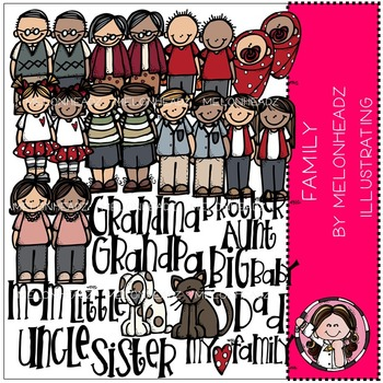 Melonheadz: Family clip art