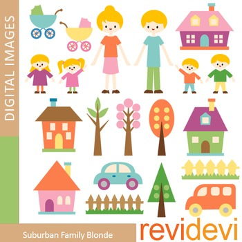 Family clip art (mom, dad, brothers, sisters) parents and kids clipart