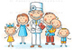 Family doctor with his patients