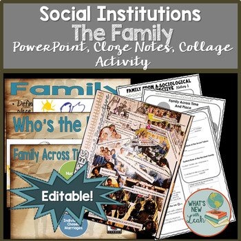 family from a sociological perspective powerpoint cloze notes and