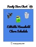 Family household Chore Chart