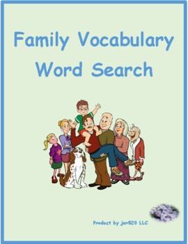Family in English Wordsearch