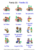 Family in French Word searches / Wordsearches