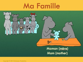 Family in French with Pepper