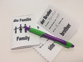 Family in German - Foldable Mini Booklet