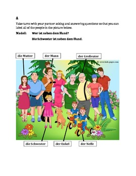 Familie (Family in German) Partner Speaking activity