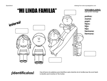 Family in Spanish (Drawing)