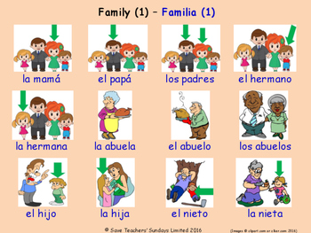Family in Spanish Posters / Slides