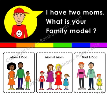 Family models - Family types - LGBTQ families - 11 x 17 - I have two moms poster