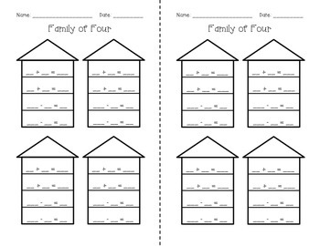 Family of Four - A Fact Family Game/Station