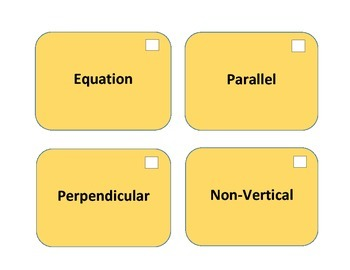 A3: Family of Functions Algebra Vocabulary Cards; Common Core