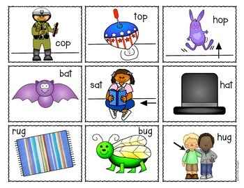 Word Families {Read and Write the Room} Activity for Kindergarten