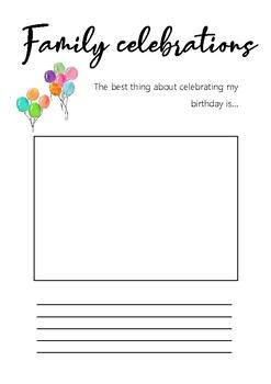 Family traditions - celebrating birthdays