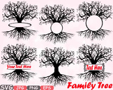 Family tree Split / Circle frame clipart Deep Roots Family Is Love T shirt -597s