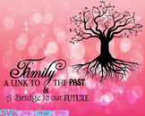 Family tree Word Art Branche SVG clip art past Tree Deep Roots quote -267S